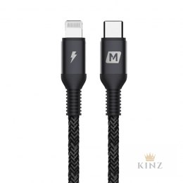 Momax Elite link - Przewód z USB-C (Power Delivery Fast Charging 3A) na Lightning MFi 1,2 m (Black) Momax