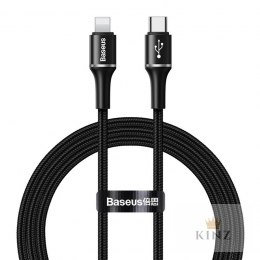 Baseus Halo Data Cable Type-C to iP PD 18W - Kabel połączeniowy USB-C do Lightning 1m (czarny) Baseus