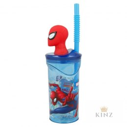Spiderman - Kubek ze słomką i figurką 3D 360 ml Spiderman
